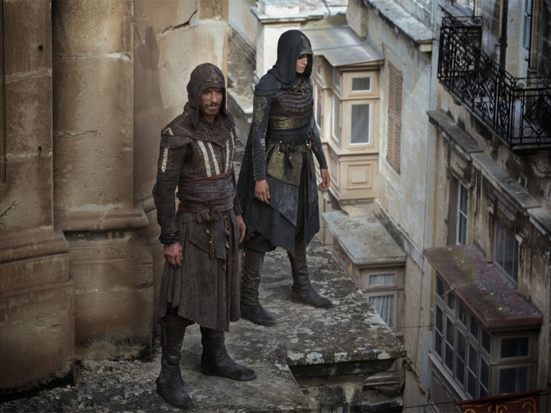 Guys, they actually performed a Leap of Faith for the Assassin's Creed movie