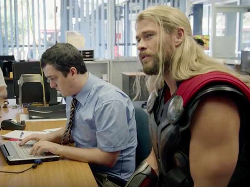 Hemsworth's God of Thunder hangs with housemate in Thor mockumentary