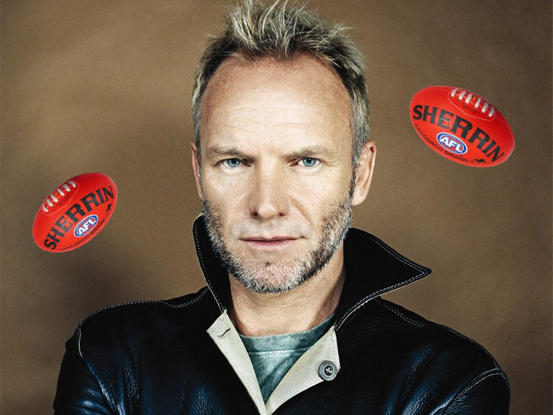 Sting to headline AFL Grand Final show