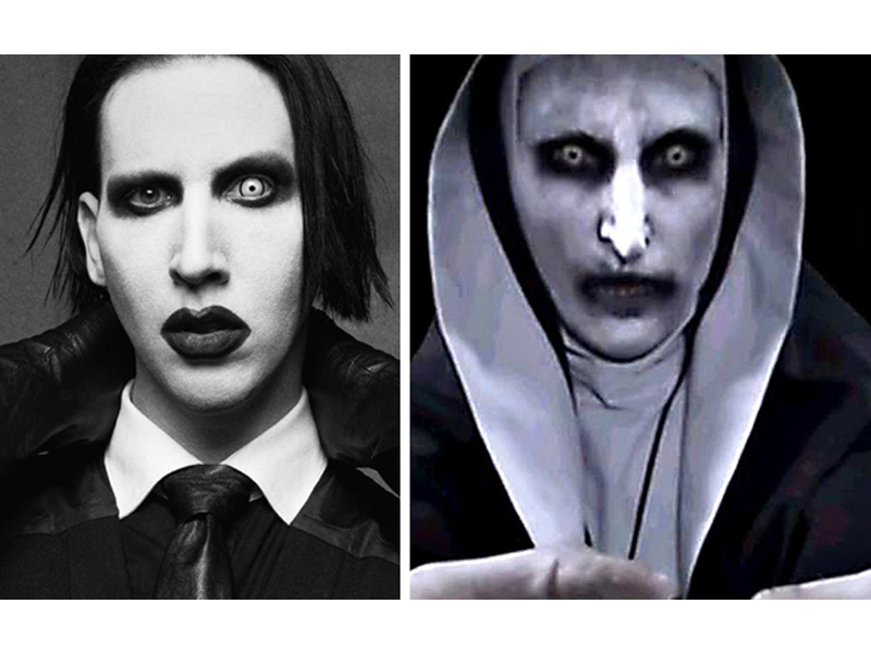 Separated at birth: Marilyn Manson and… the demonic nun from The Conjuring 2