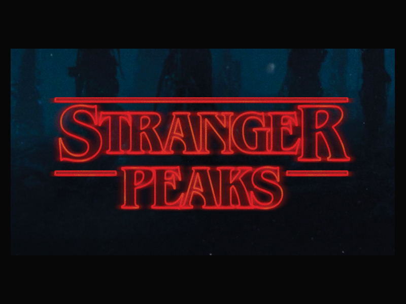 Stranger Things vs Twin Peaks mash-up
