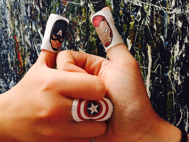 Download your own free Captain America: Thumb War kit