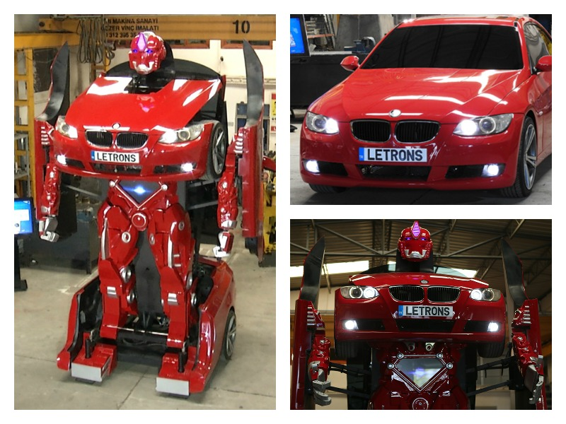 Someone's made a working Transformer out of a BMW