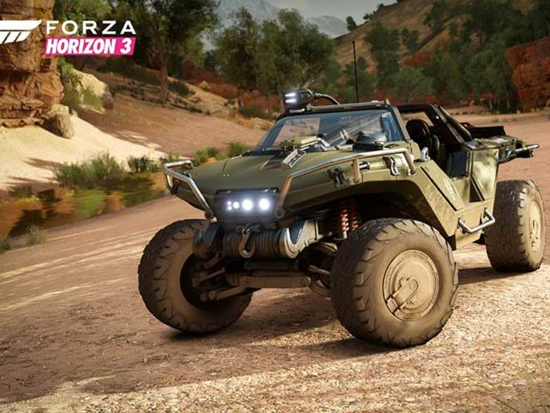 You can drive the Warthog in Forza Horizon 3