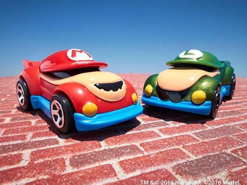 Official Super Mario Hot Wheels cars cruise in