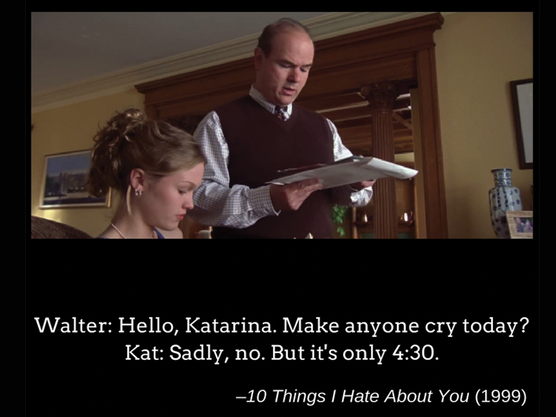 Quote of the day: 10 Things I Hate About You