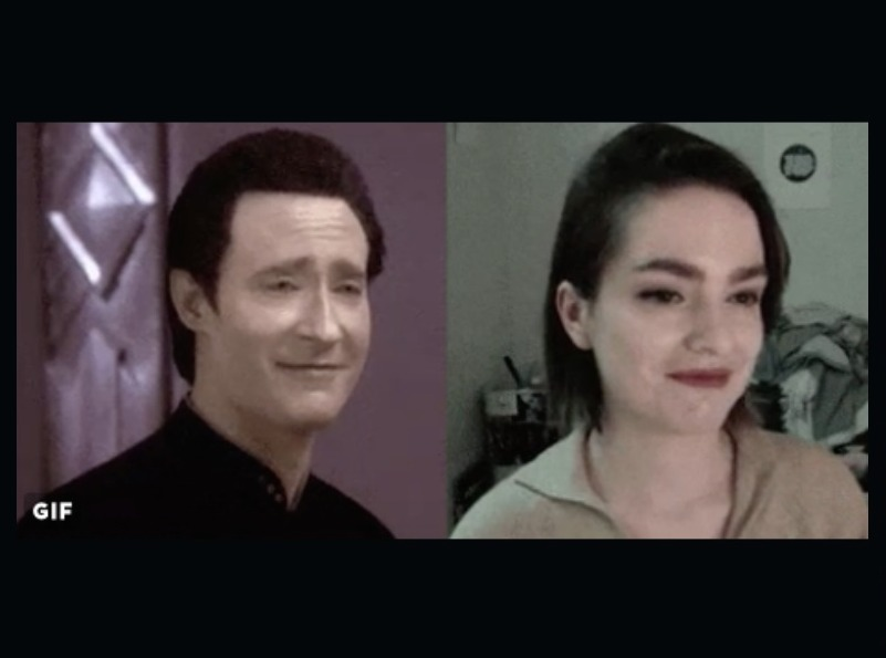Woman perfectly recreates Data from Star Trek gif