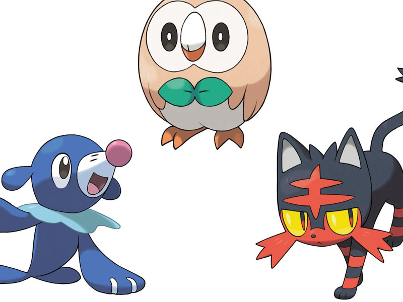 WATCH: here are your final Pokemon Sun/Moon starter evolutions
