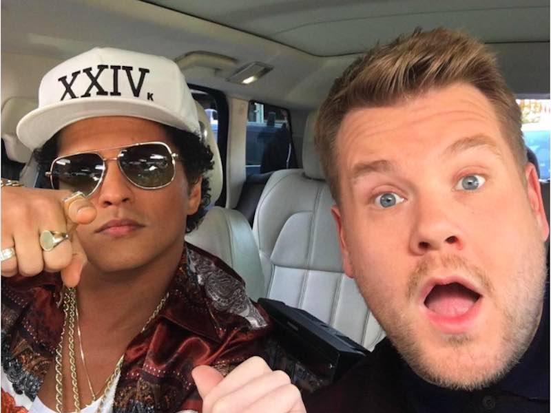 Bruno Mars on board for Carpool Karaoke