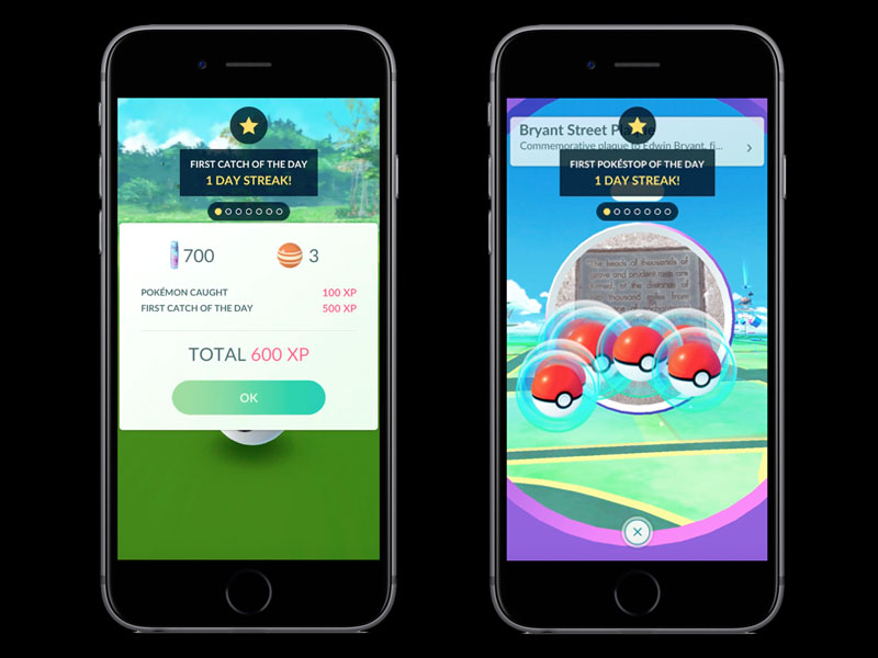Pokemon GO to get daily/weekly bonuses