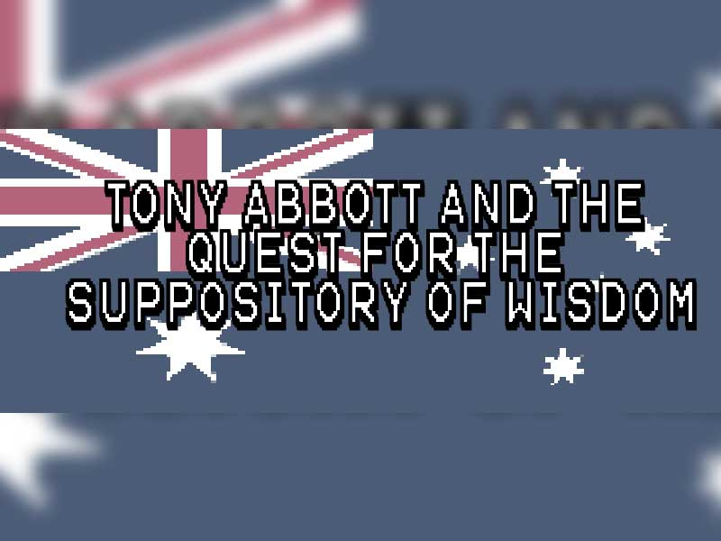 There's a Tony Abbott RPG on the way