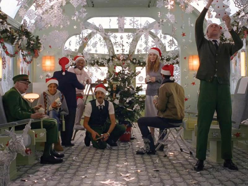 An H&M winter wonderland from Wes Anderson