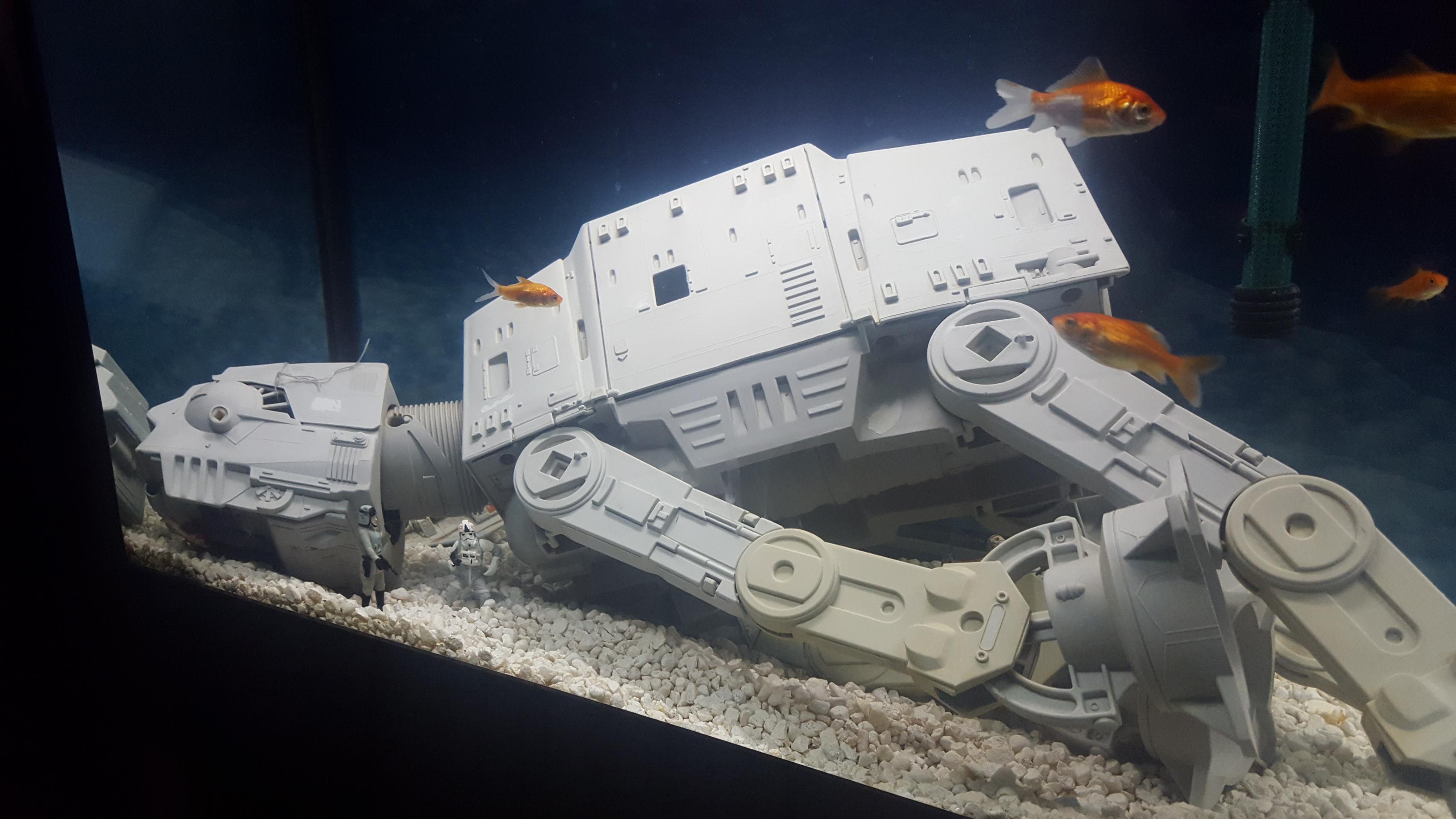 The ultimate star wars fish tank stack jb hi fi for Star wars fish tank decor