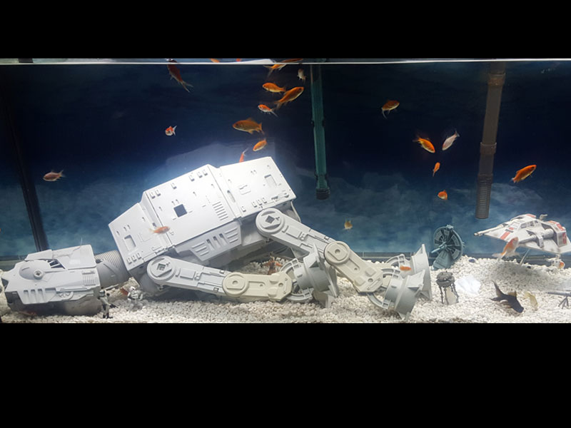 The ultimate Star Wars fish tank