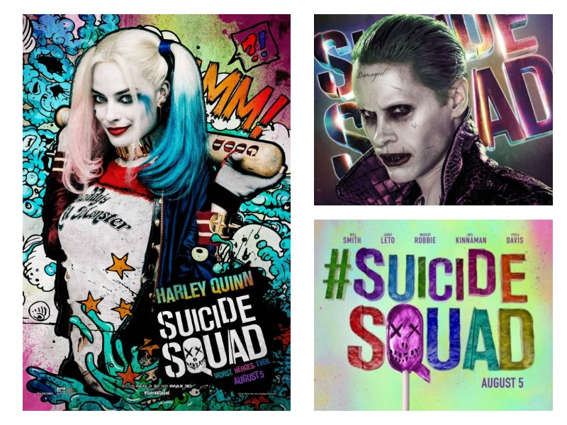 These Suicide Squad character posters are spectacularly fluorescent and filthy