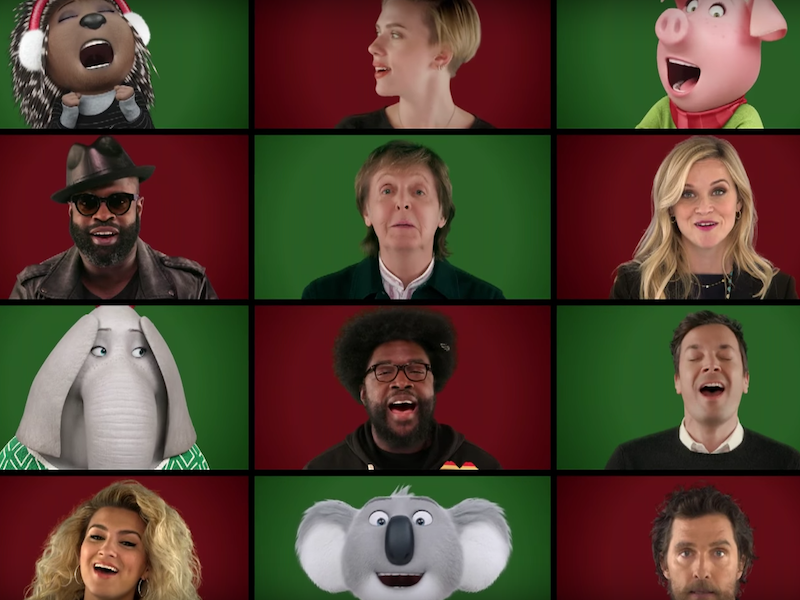 WATCH: Jimmy Fallon, Paul McCartney and the cast of Sing perform 'Wonderful Christmastime'