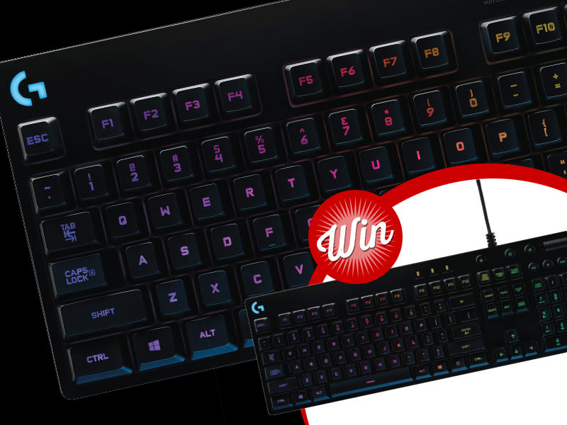 Win a Logitech G810 gaming keyboard