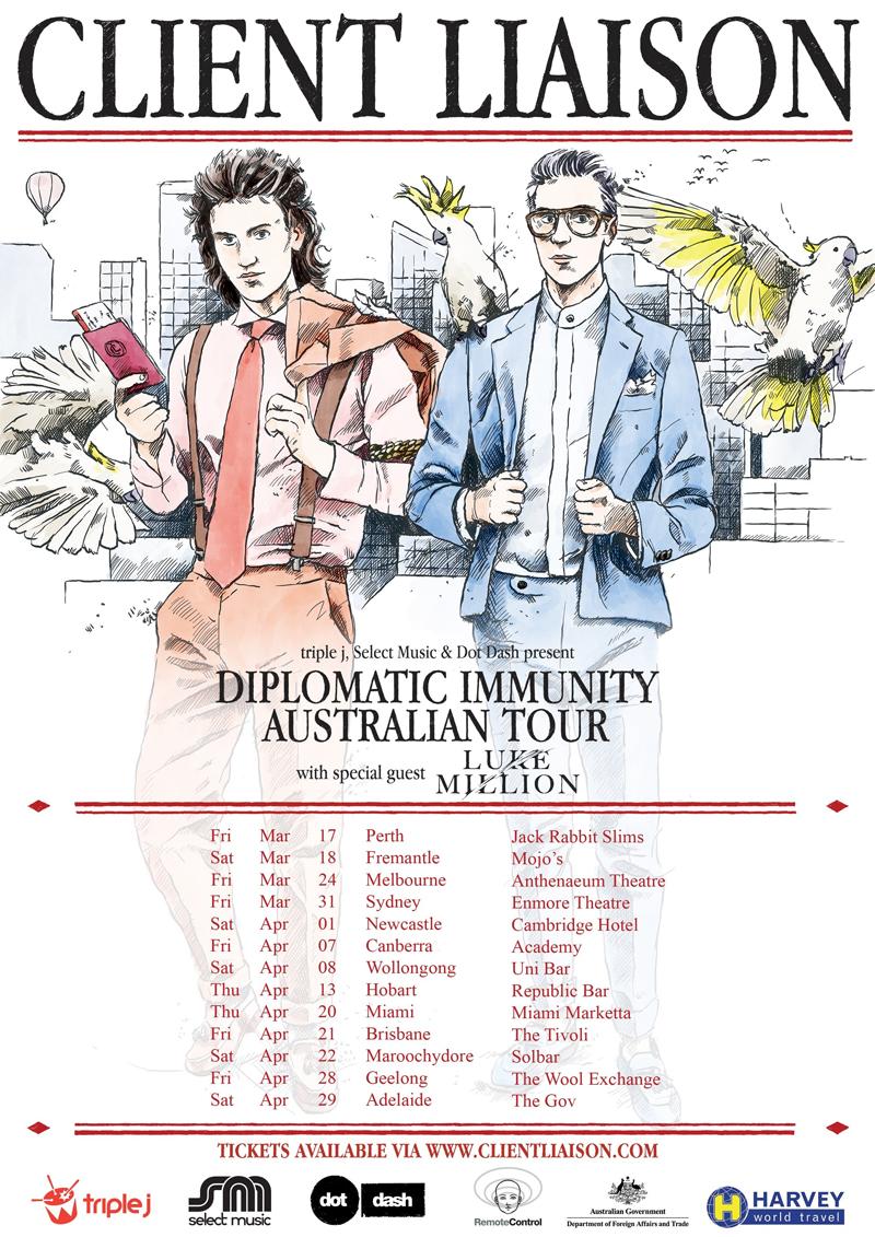 Client Liaison tour poster