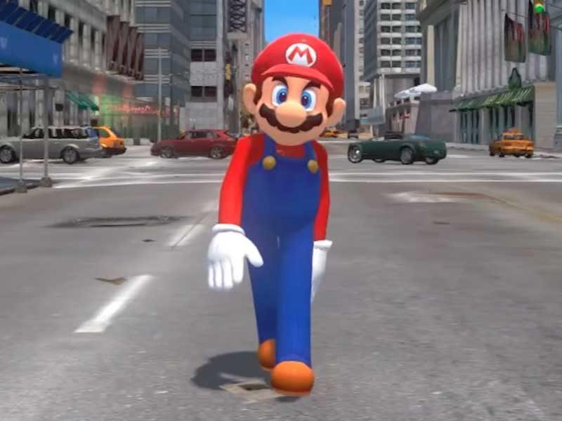 WATCH: Super Mario Odyssey meets GTA IV