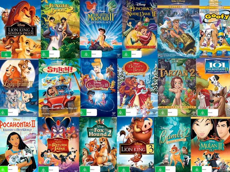 Image Result For All Disney Princess Movies And Sequels