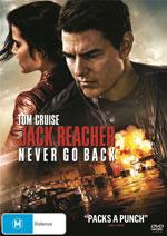 Jack Reacher: Never Go Back DVD cover