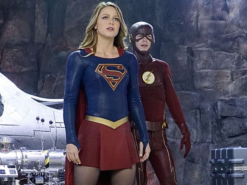 The Flash and Supergirl in La La Land