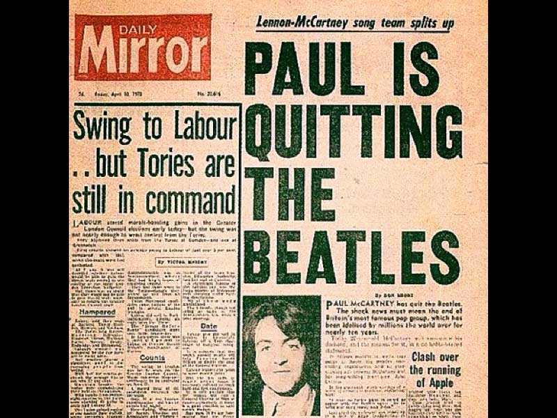 On this day: The Beatles split