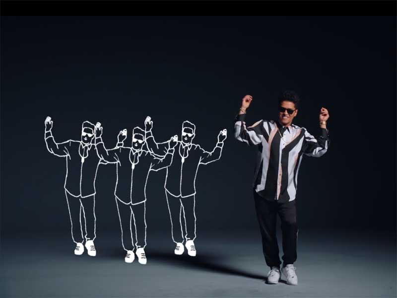 New Bruno Mars clip? That's what I like