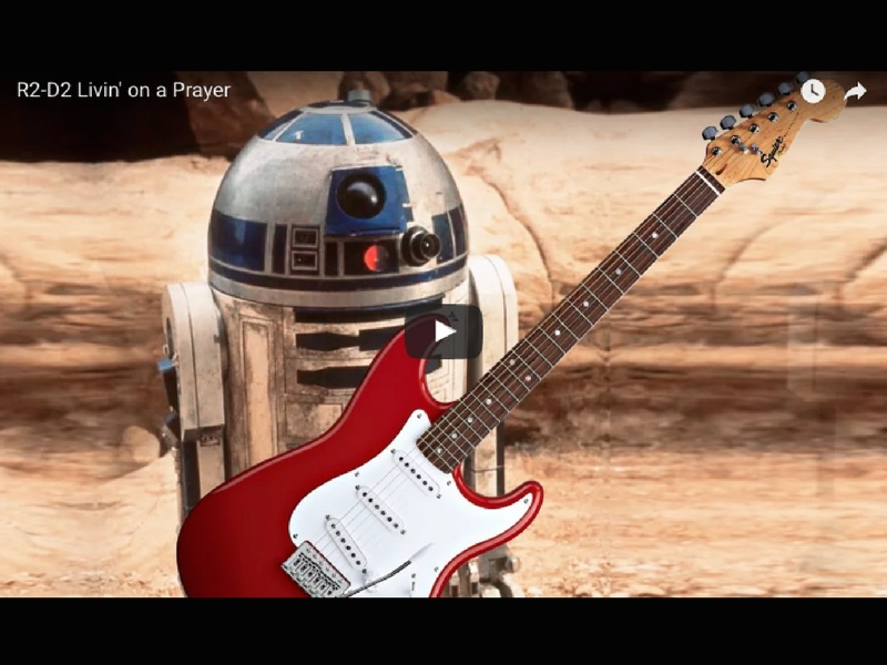R2-D2 vs Bon Jovi mash-up