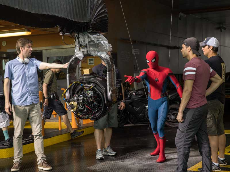 On the set of Spider-Man: Homecoming