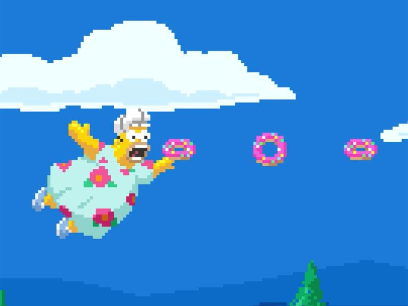 The Simpsons in 16-bit. MMMmmm, bits!
