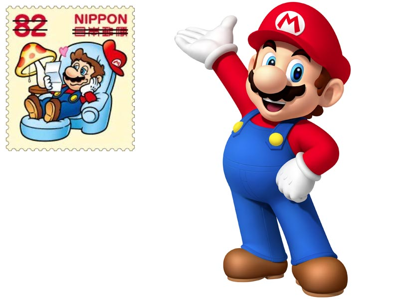 """It's a stick-a up!"" – Super Mario stamps on their way"