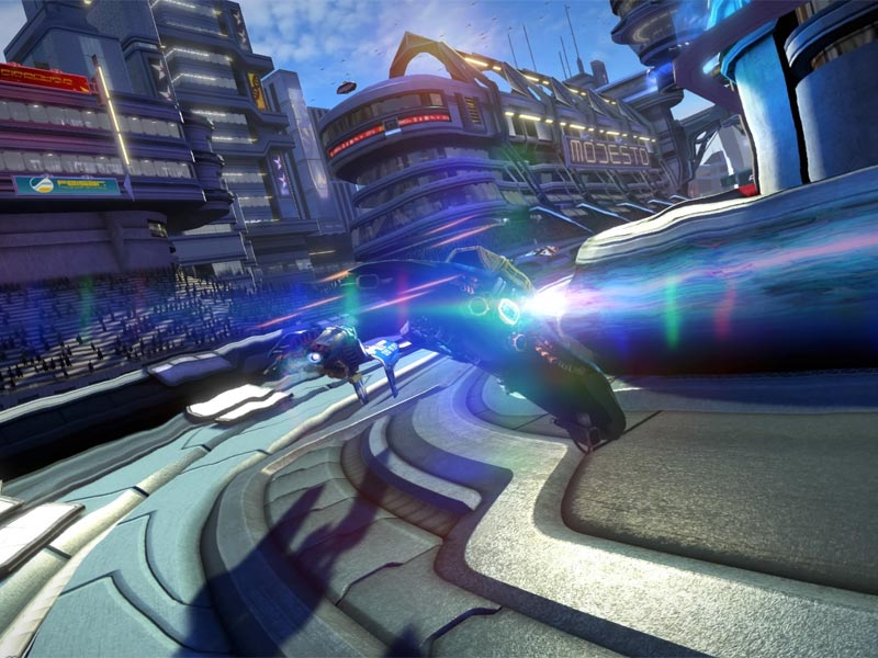 WipEout Omega Collection on track