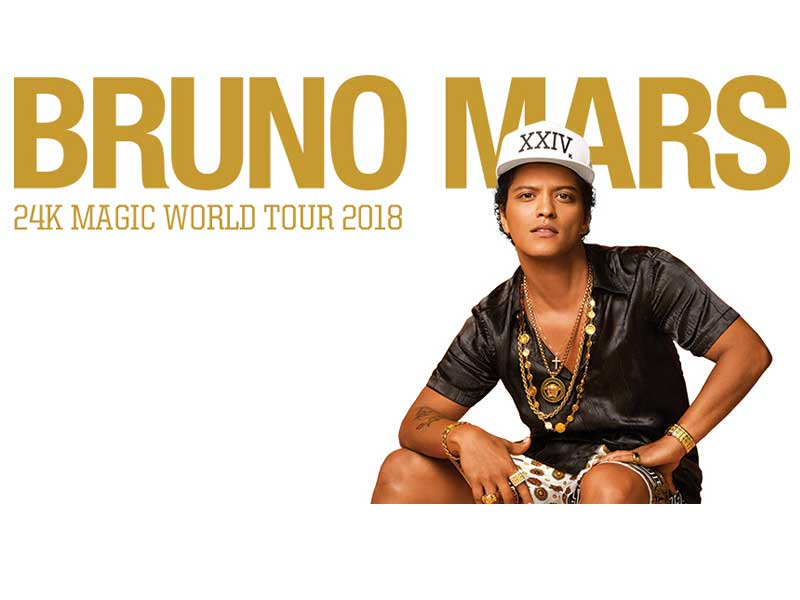Bruno Mars bringing the Magic Down Under