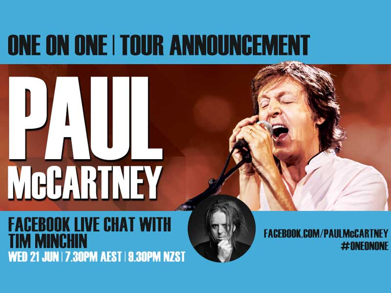Paul McCartney is live!