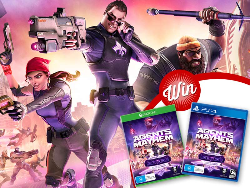 Win: Agents of Mayhem on PS4 or Xbox One