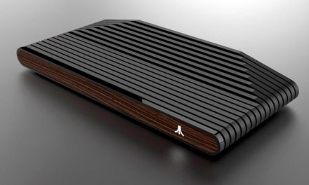 Ataribox console partially revealed