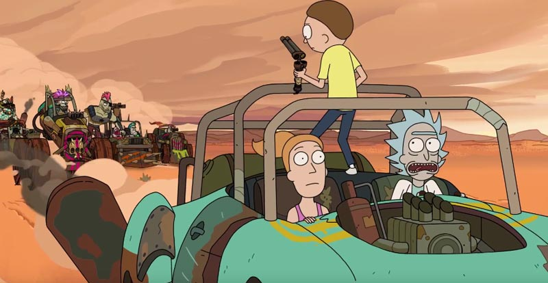 Rick and Morty do Mad Max – sneak peek!