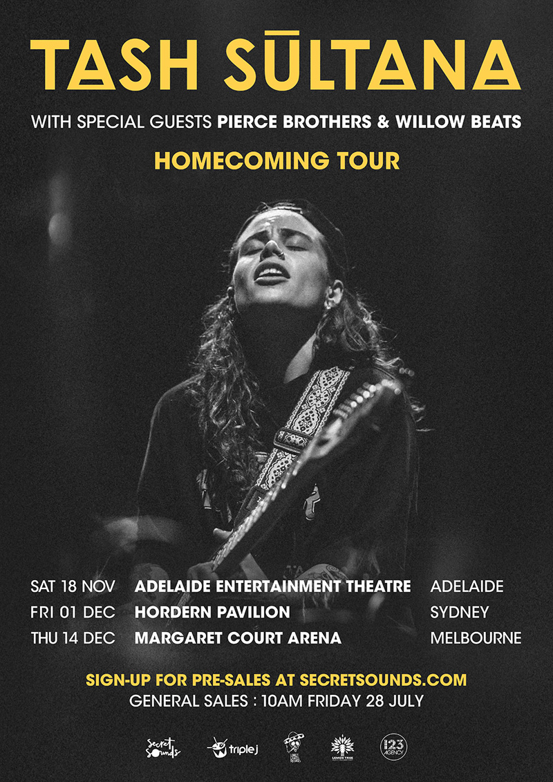 Tash Sultana tour poster