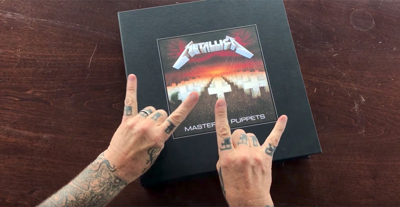 Watch James Hetfield unbox the 'Master of Puppets' reissue