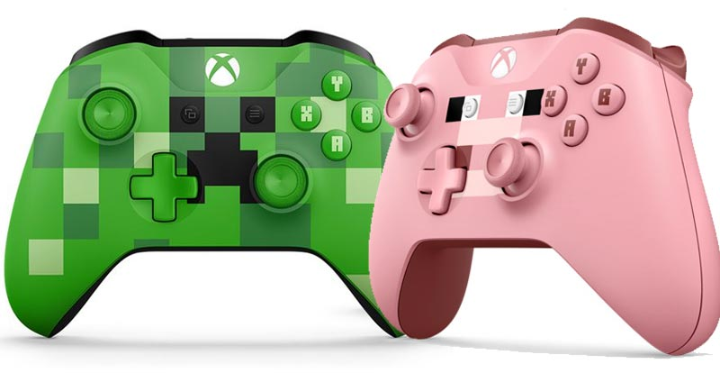 Minecraft controllers – Creeper or Pig?