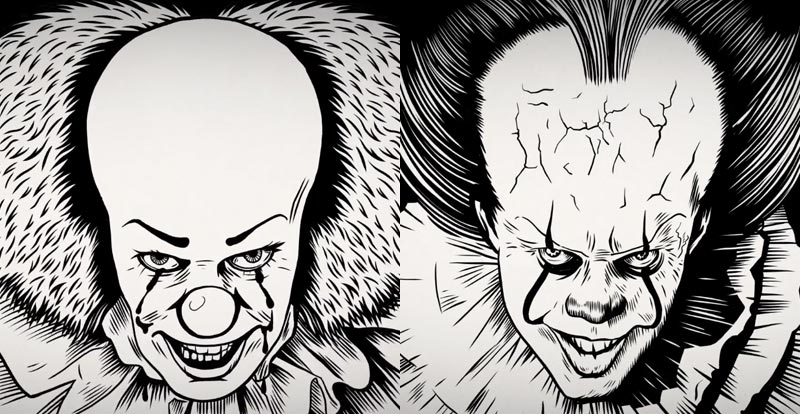 Clown Off 1990 Pennywise Vs 2017 Pennywise Stack Jb Hi Fi
