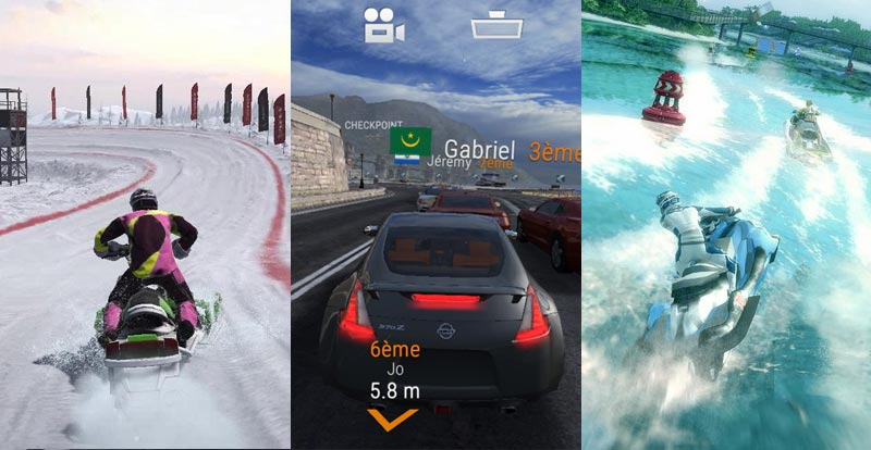 Three racers racing to Nintendo Switch