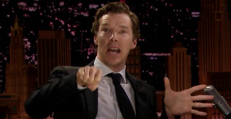 Benedict Cumberbatch sings about mashed potatoes