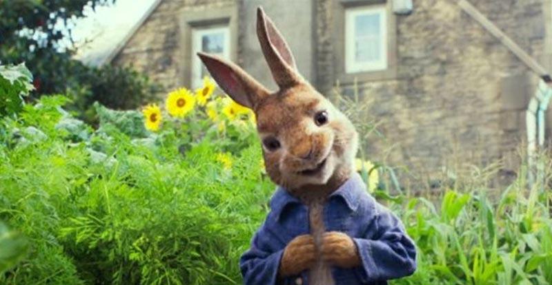 Peter Rabbit trailer hops in