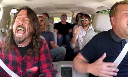 Foo Fighters smashing carpool karaoke!