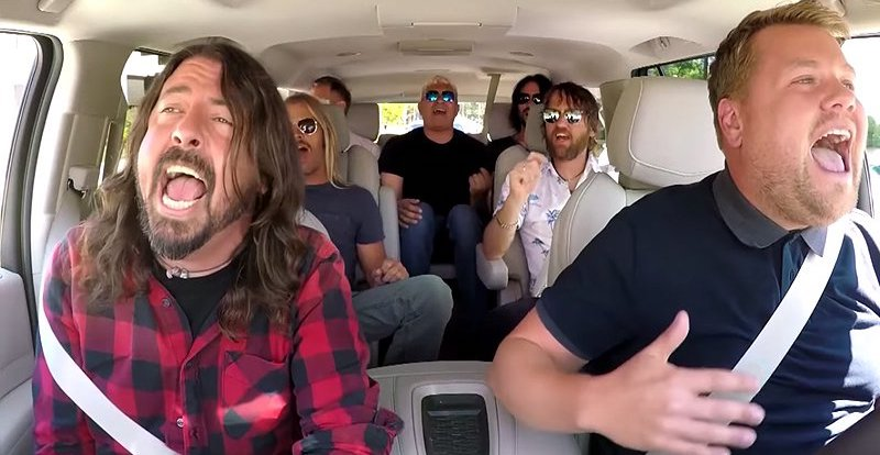 Foo Fighters smashing carpool karaoke!