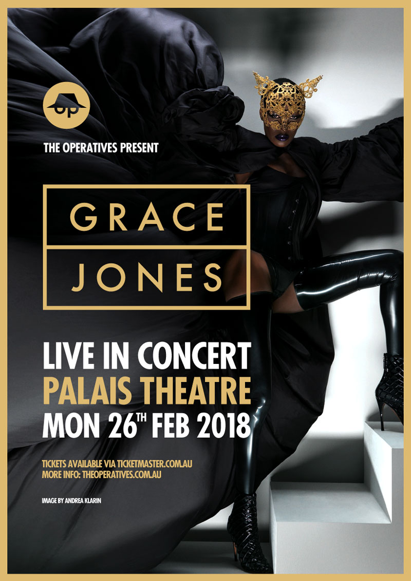 Grace Jones tour poster