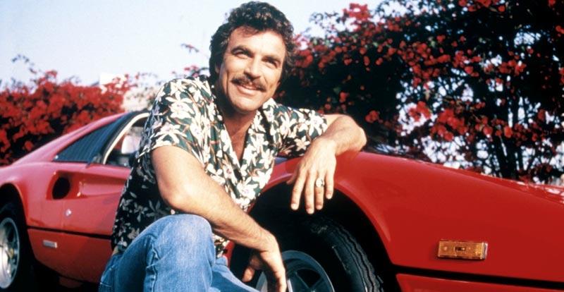 Magnum revving up the Ferrari again