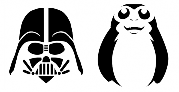 12 Star Wars pumpkin carving stencils